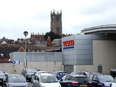 St Laurence's & Tesco, Ludlow, Shropshire 7 September 2016 (Cold War Warrior Follow Me on Ipernity) Tags: ludlow shropshire stlaurences tesco oldnew