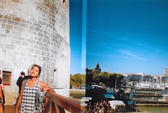 Gabby La Rochelle (BeefySquarms) Tags: gabby halfframeshots lomography blueskies brightcolours larcochelle france seaside castle culture frenchculture dianamini diana 35mm filmphotography