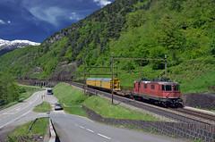 Train 50921 @ Lavorgo (Wesley van Drongelen) Tags: sbb cff ffs cargo post bahnpost postzug re 44 ii 420 re420 gotthard lavorgo train trein zug treno