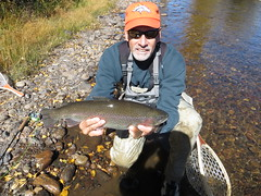 Me With A Nice Rainbow Trout (fethers1) Tags: fishing flyfishing granby fraserriver