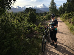 Rothiemurchus Trails (Gee & Kay Webb) Tags: mtb mountainbike mountains bike bicycle scotland aviemore rothiemurchus riding adventure weather outdoors trees trails kay cycling clouds countryside