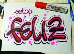 Estoy feliz #handletterin #handwriting #handmade #lettering #letters #marker #sharpie #lovecalligraphy #calligraphy #doodle #art #design #ink #handstyle #calligraffiti #handtype #escritura #typographyinspired #pencil #sketch #paper #tagn (OscarInk25) Tags: sketch ink typographyinspired escritura paper handtype lovecalligraphy handwriting letters tattoo art handstyle marker handmade lettering pencil blackletter calligraphymasters tagname calligraffiti sharpie inktechnique typography tattodesign doodle handletterin design calligraphy