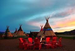 Teepees, Capitol Reef, Utah, USA (Maria Kotsonia) Tags: utah usa capitolreefnationalpark tipi tepee teepee nativeamerican fire sunset nikon d3300 sky