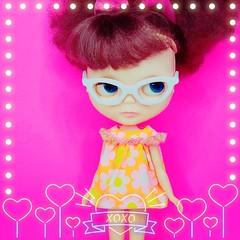 Anouk enjoys a Sophisticute Sunday in a new babydoll dress, now available in my Etsy shop  (endangeredsissy) Tags: blythe blythedoll 365blythe endangeredsissy handmade retro kennerblythe cute kawaii