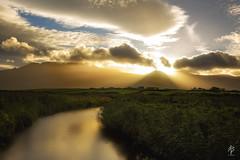 Golden Hour... (fearghal breathnach) Tags: sunrise river clouds cloudsstormssunsetssunrises cloudscape goldenhour light rays sunrays rayoflight summer golden dinglepeninsula curves shadows kerry