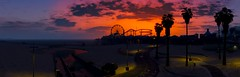 Grand Theft Auto V (ConnecteD\_) Tags: gtav sunset sky beach ferris wheel palm trees clouds ocean screenshot panorama