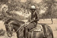 Berger Himba (Darth Jipsu) Tags: people gens awesome sepia black white noir et blanc himba namibie namibia namibien namibian