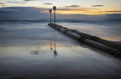 Double Lines (Crouchy69) Tags: sunrise dawn landscape seascape ocean sea water coast clouds sky pipes manly beach sydney australia