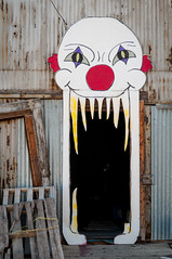 CREEPY! (Sam Scholes) Tags: old building abandoned halloween digital utah scary nikon mine industrial decay clown entrance mining warehouse coal hauntedhouse hiawatha d300 kingcoal spookalley kingmine usfco unitedstatesfuelcompany