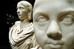 Ignoring the Ignorant (O'Quinn Photo) Tags: boy toronto ontario canada statue museum heads marble sculptures royalontariomuseum ignoring oquinn blankstares romanbusts
