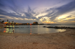 last one at the beach (amira_a) Tags: sunset beach night clouds reflections israel nikon sigma wideangle 1020mm spiaggia caesarea d5100