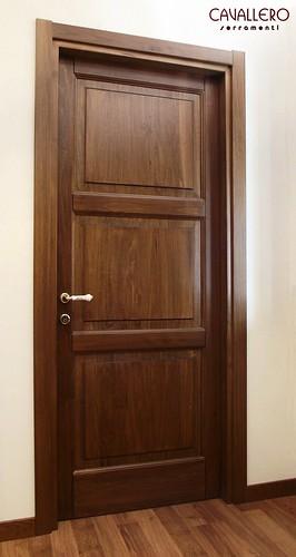 Porta Linea Classica in legno massiccio a 3 pannelli