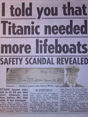 TITANIC safety scandal revealed-50% more lifeboats needed. (Columbiantony (Leeds,UK)) Tags: ocean new sun white signs history up lines sign yard docks star dock gun sink wilde maurice text belfast smoking line safety passengers henry cover disaster document conspiracy april british 10th passenger iceberg 1912 sunken southampton sunk titanic wiltshire scandal devizes officer aldridge clarke sinking memorabilia inspector reveal documents inquiry liner wolfe controversial officers astonishing lifeboats revealed scandals harland carpathia titanica titanicdisaster lifebooat