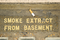 SMOKE EXTRACT FROM BASEMENT, London 2012 (lambertwm) Tags: from street london sign warning pavement cigarette smoke basement smoking shops regent bord stoep londen extract winkels waarschuwing