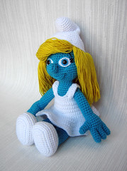 Amigurumi Headphones : Alfa img - Showing > Smurf Doll to Crochet