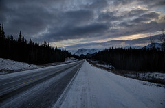 On the way to Teslin, Yukon (Ballygrant Boy) Tags: trees sky cloud snow mountains sunrise nikon yukon alaskahighway teslin 24120vr yukonterritory d700