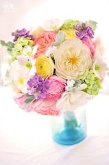 brittany3 (dkdesigns) Tags: wedding ranunculus hydrangea bouquet lilyofthevalley boutonniere heirloomroses gardenroses purplestock claycraftbydecoanddkdesigns dkdesignsandclayweddingbouquets dustymillerleaves