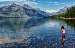 Cold Water (Jeff Clow) Tags: travel lake mountains nationalpark glaciernationalpark lakemcdonald tpslandscape