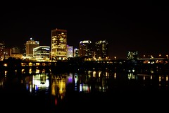 (photosbyChloeMuro) Tags: city skyline lights virginia richmond belle isle rva