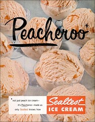 1954 Peacheroo Sealtest ice cream (1950sUnlimited) Tags: food design desserts icecream 1950s packaging snacks 1960s dairy midcentury snackfood sealtest