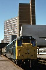 BR Class 31 31166, Leeds, 3rd. September 1977 (Crewcastrian) Tags: br transport leeds trains 1977 class31 31166