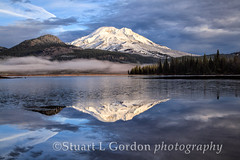 First Snow_0013 (chasingthelight10) Tags: sky snow mountains nature oregon photography dawn landscapes events lakes places vistas sunrises brokentop southsister cascaderange sparkslake cascadeloophighway blinkagain bestevergoldenartists