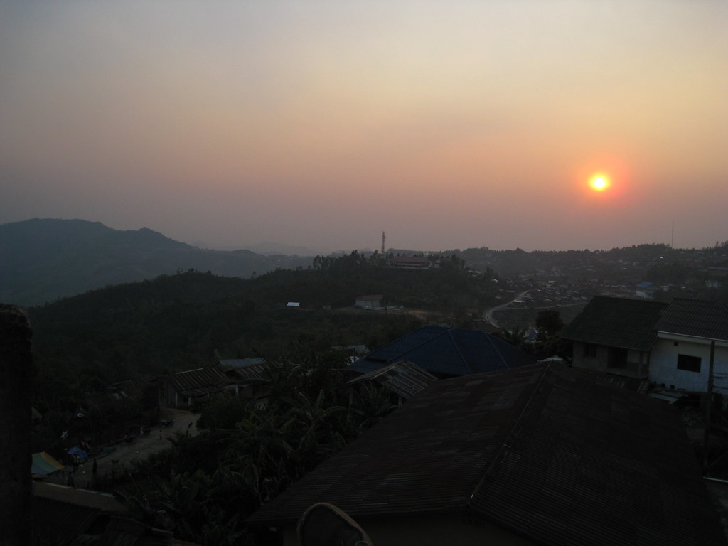 Just another sunset, Phongsali, Laos