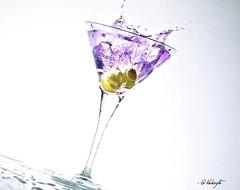 Martini Splash (G.ValenzTa) Tags: water glass speed menu restaurant drops high crystal olive martini vodka splash advertise nostrobistinfo removedfromstrobistpool seerule2
