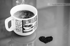 Project Coffee  (1/3) ( SUMAYAH  ) Tags: ca camera bw coffee canon project photography eos flickr edmonton heart explore alberta pro     550d    sumayah        flickrsumayah   sumayahessa