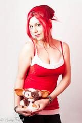 Ade (picsxam) Tags: christmas red girl hair studio rouge model nikon box flash sb600 noel gizmo fille ade couleur gremlins cheveux modle strobist glatine strobism d700 sb900 nikon2470f28