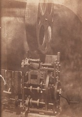 Photo 3''x2'': Unknown home made silent hand cranked 35mm projector mechanism (Tom A. Wilson) Tags: motiograph edisonkinetoscope powerscameragraph silenthandcrankedmovieprojector motionpictureprojection edengraph