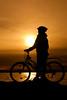 Sunset Cyclist (juliereynoldsphotography) Tags: sunset sea silhouette cyclist redrock wirral westkirkby juliereynolds