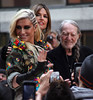 Ke$ha aka Kesha, Willie Nelson Ke$ha performing live on NBC's Toyota Thanksgiving Concert Series on the 'Today' show at Rockefeller Center New York City, USA