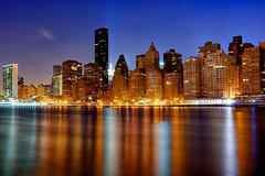 New York City on November 20, 2012 (mudpig) Tags: nyc newyorkcity longexposure ny skyline night geotagged glow cityscape photographer un esb unitednations eastriver empirestatebuilding gothamist fdrdrive rooseveltisland hdr fdr manhattanhenge mudpig stevekelley stevenkelley
