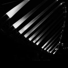 threesixsix - 312 - lit (DevilFishMark) Tags: bridge light blackandwhite bw project square blackwhite squareformat lit squarecrop 2012 366 d700 project366 threesixsix