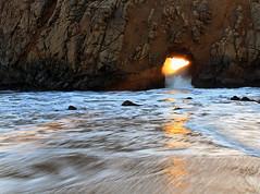 Pfeiffer Arch 3 (Jason Branz) Tags: ocean california sunset coast arch tide bigsur hightide californiacoast pfeifferbeach seaarch bigsurcoast