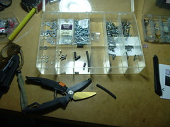 VIA-APC-Raspberry-PI-P1010988 (el cajon yacht club) Tags: black make screws nuts cardboard hack friday apc washers spacers