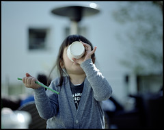 My Favorite Babyccino. (MichelleSimonJadaJana) Tags: portrait 120 girl childhood japan analog children tokyo kid pentax scanner documentary lifestyle snaps jana  epson medium format  6x7 90mm smc f28 67ii flatbed jada pentax67 vuescan v750 gtx970