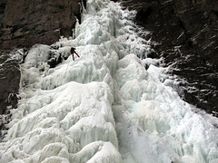 Graham Descending (Dru!) Tags: canada ice frozen waterfall rappel lytton crucible thompsonriver abseil thompsoncanyon iceclimb nicomen bcbritishcolumbia nicomenriver nicomencreek