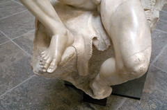 Barberini Faun, foot and knee