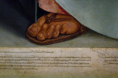 Dürer, The Four Apostles, detail with Paul's foot