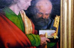 Dürer, The Four Apostles, John and Peter (close)