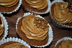 Coffee Walnut (Nikki_Bees) Tags: food coffee out vegan cafe birmingham walnut homemade cupcake veged