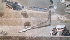 Alexander Mosaic, detail with broken spear