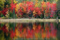 Huron Harmony - Wetmore Pond (Huron Mountains - Upper Michigan) (Aaron C. Jors) Tags: autumn fall mi reflections michigan lakes oranges yellows reds ponds uppermichigan huronmountains marquettecounty wetmorepond