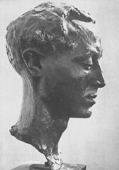 Isamu Noguchi (damocles2012) Tags: portrait blackandwhite sculpture man detail male art history blancoynegro statue bron