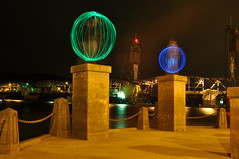 322.366 (JohnnySevereWeather) Tags: light lightpainting minnesota painting construction downtown under orb stillwater orbs liftbridge downtownstillwater