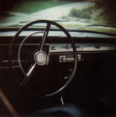 vintage interior (meghan davidson) Tags: film lomography vintagecar diana steeringwheel carinterior expiredfilm letstakearide