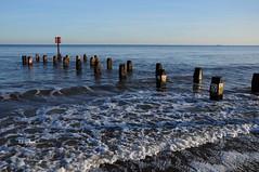 Gentle Waves (EJ Images) Tags: uk sea england slr beach water coast suffolk nikon wave coastal seafront dslr groyne eastanglia 2012 lowestoft wavebreak nikonslr d90 nikondslr suffolkcoast nikond90 lowestoftbeach 18105mmlens ejimages dsc0333c