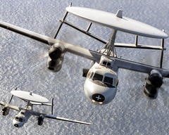 E-2C Hawkeye aircraft conduct operations. (Official U.S. Navy Imagery) Tags: heritage america liberty freedom commerce unitedstates military navy sailors fast calif worldwide tradition usnavy ventura protect deployed flexible onwatch beready defendfreedom warfighters nmcs chinfo sealanes warfighting preservepeace deteraggression operateforward warfightingfirst navymediacontentservice